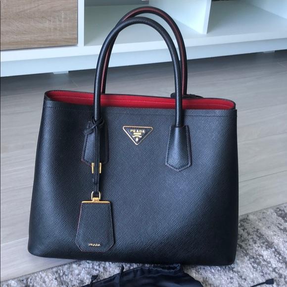 1ad91277e42 Prada Saffiano Cuir - Black and Red. M_5be721a5819e9015969a2670